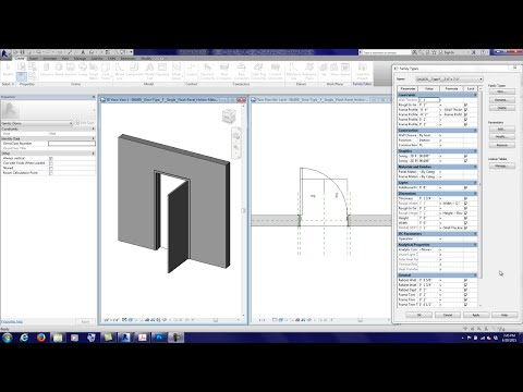20150420 20150421 Tutorial Making Detailed Revit Door Families