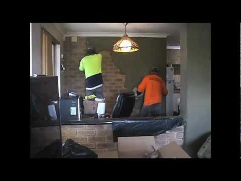 Internal feature brick cement coating.Perth Plastering/ Rendering Perth/ Internal Render