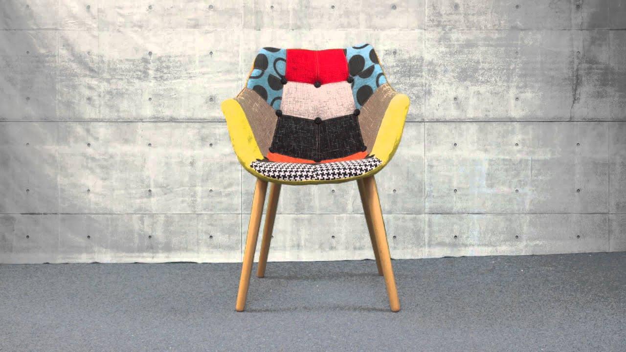 fauteuil eleven patchwork de zuiver - Chaise Eleven Patchwork Colors