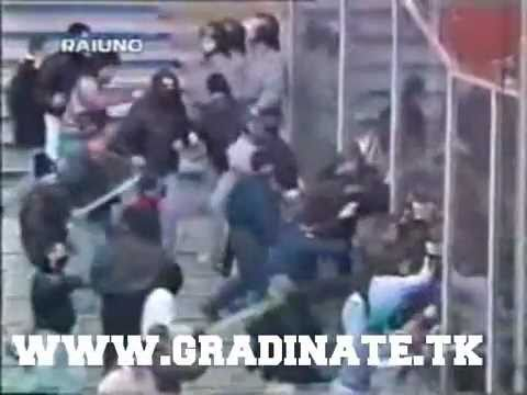 GENOA-MILAN 29/01/1995 -INCIDENTI-RIOT- Ultras Genoani Scontri