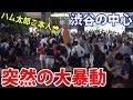 夜の渋谷にハム太郎が出現したら酔った人間がパリピって渦作ると思った