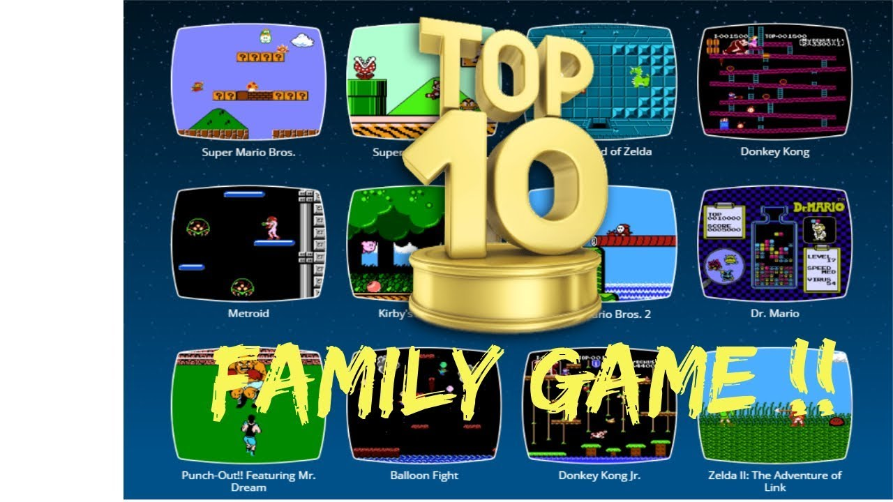 Top 10 Mejores Juegos Family Game Nes Youtube