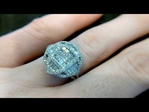 Custom Diamond engagement ring by Secrète Jewelry in DC and Bethesda