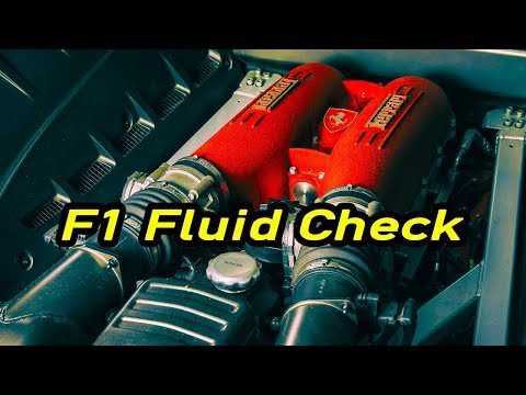 How To Check the F1 Fluid Level in a Ferrari F430 Paddle Shift