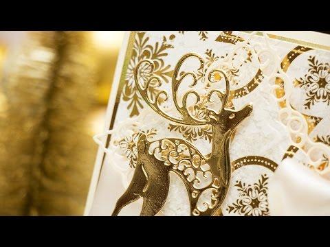Elegant Christmas Card with Spellbinders