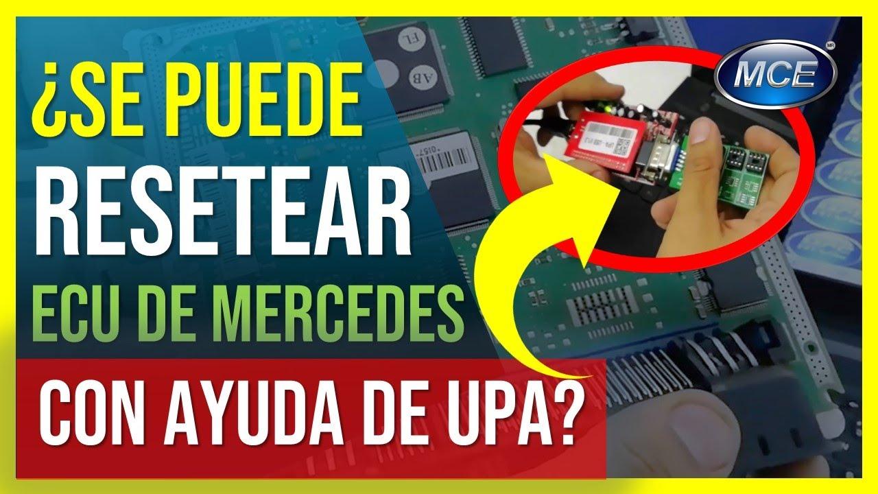 🔑🚗 Cómo Programar con UPA una memoria eeprom de Ecu de Mercedes Benz  [Virginización]