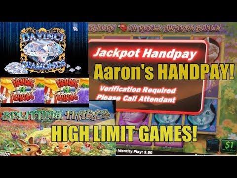 AARON'S SPLITTING HARES SLOT MACHINE-HANDPAY- HIGH LIMIT