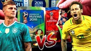 PANINI WM 2018 FIFA WORLD CUP UNBOXING BATTLE! 😱🔥 Sticker vs Karten