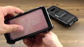 ОБЗОР: Противоударный Чехол-Накладка для Samsung Galaxy S8 SM G950 с Подставкой и Креплением на Пояс