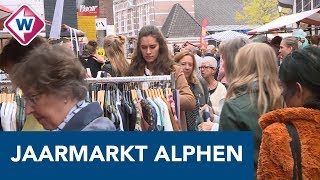 Jaarmarkt in Alphen: 'Gezelligheid, het hoort bij Alphen' - OMROEP WEST