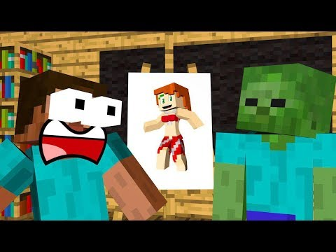 Monster School : DRAWING A GIRL Challenge - Minecraft Animation