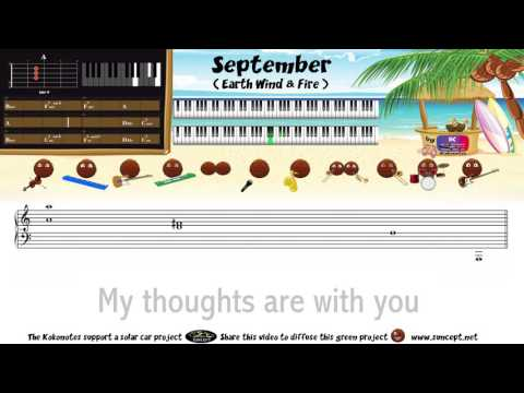 How to play : September (Earth Wind & Fire) - Tutorial / Karaoke / Chords / Score / Cover