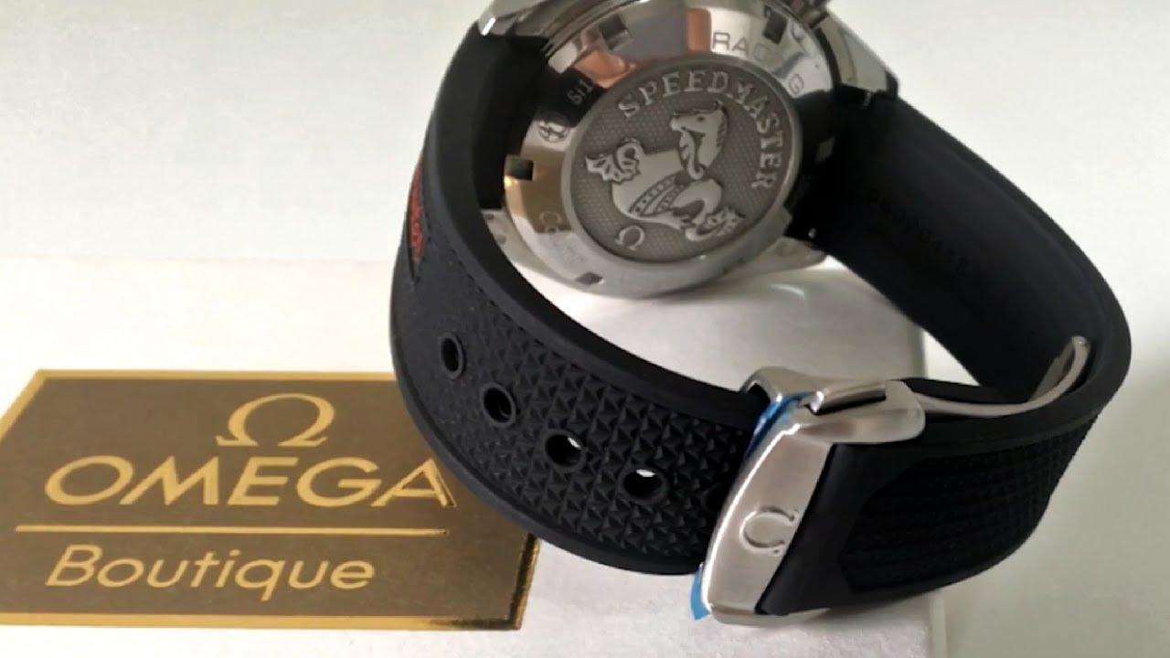 Omega Oem 550 Rubber Strap With Deployant Clasp Youtube