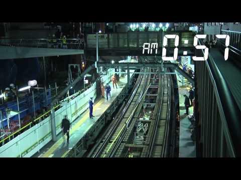 [1200 kỹ sư trong 3,5 giờ]: Đường tàu điện trên mặt đất trở thành đường tàu điện ngầm
