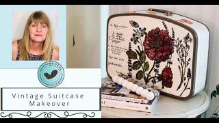Old Suitcase Makeover and a Sale at A Maker's Studio