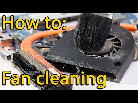 HP Pavilion 15-n Series disassembly and fan cleaning