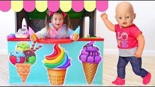 София Играет в Магазин мороженого для Детей