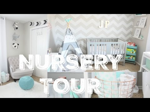 Baby Boy Neutral Grey Nursery Tour