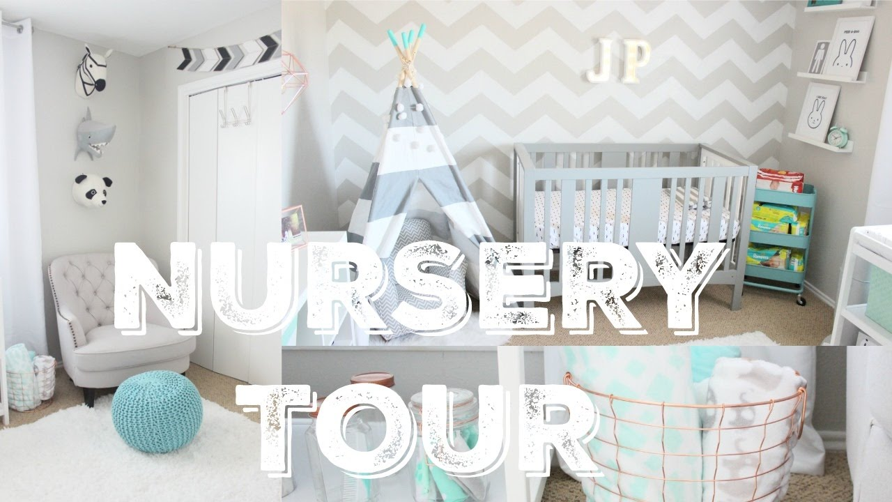 Baby Boy Neutral Grey Nursery Tour  Youtube