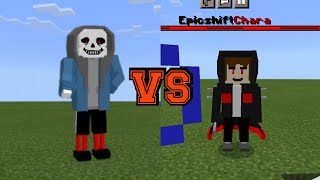 God Genocide Dust Sans vs EpicShift Chara in minecraft pe