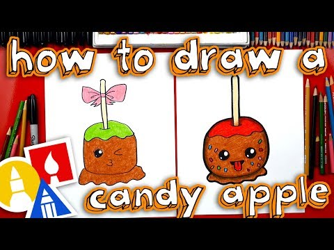 How To Draw A Candy Apple With Mrs  Hubs