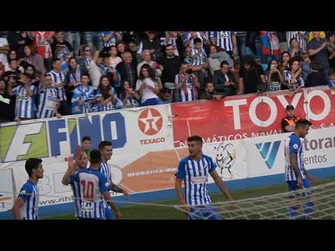 Ponferradina 1-0 Cartagena. Gol de Isi.