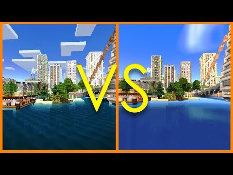 Minecraft PE - BEST SHADERS: BLPE vs Energy Shaders Comparison - MCPE 1.1 iOS / Android