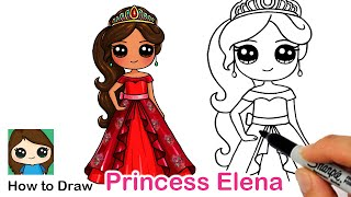 How to Draw Princess Elena of Avalor | Disney