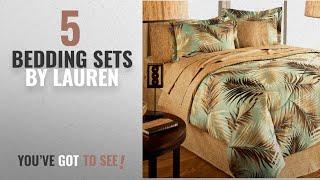 Top 10 Lauren Bedding Sets [2018]: TROPICAL PALM TREE LEAF/LEAVES OCEAN BEACH Coastal Bedding