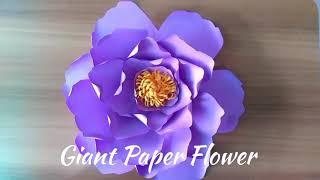 DIY | Giant Paper Flower | Handmade Flower | Wall Decoration