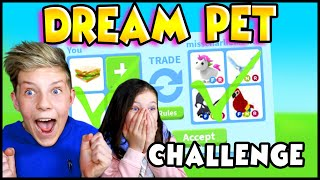 Getting Our DREAM PETS in Adopt Me Roblox!! Prezley VS Miss Charli Adopt Me Trading Challenge!