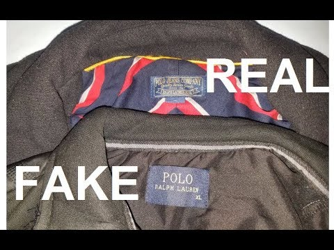 2feb23261 Real vs Fake Ralph Lauren Coat. How to spot fake Ralph Lauren - YouTube