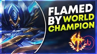 GETTING FLAMED BY WORLD CHAMPION? (Ning) | League of Legends