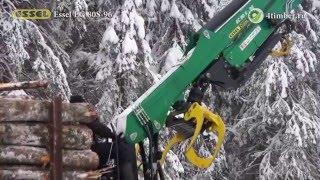 Погрузка леса манипулятором Essel EC80S-96