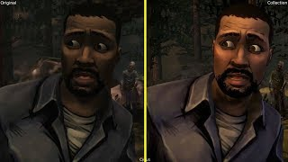 The Walking Dead Season One Original vs Collection Graphics Comparison