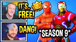 "Streamers React To *NEW* FREE SEASON 9 ""BATTLE PASS"" In Fortnite! (INSANE!) Fortnite Moments"