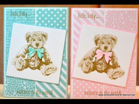 No.190 - Baby Bear Card - JanB UK Stampin' Up! Demonstrator Independent