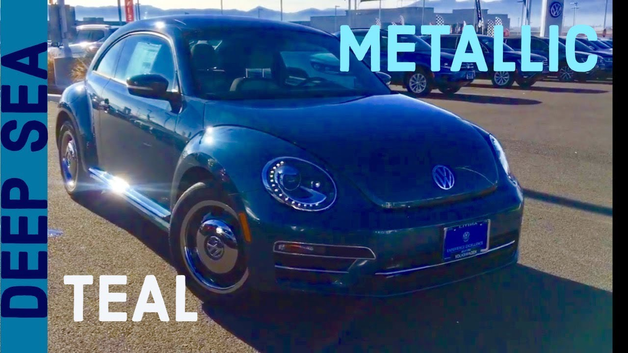 Deep SEA Teal Metallic 2018 VW Beetle Coast - YouTube