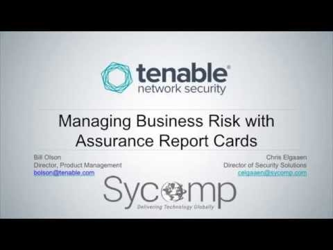 Managing Business Risks with Assurance Report Cards