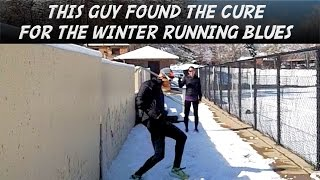 "Alicia Keys remix Runner Dance ""Music Video"" Sage Canaday ""attempt""..in the snow...in HOKA Claytons!"