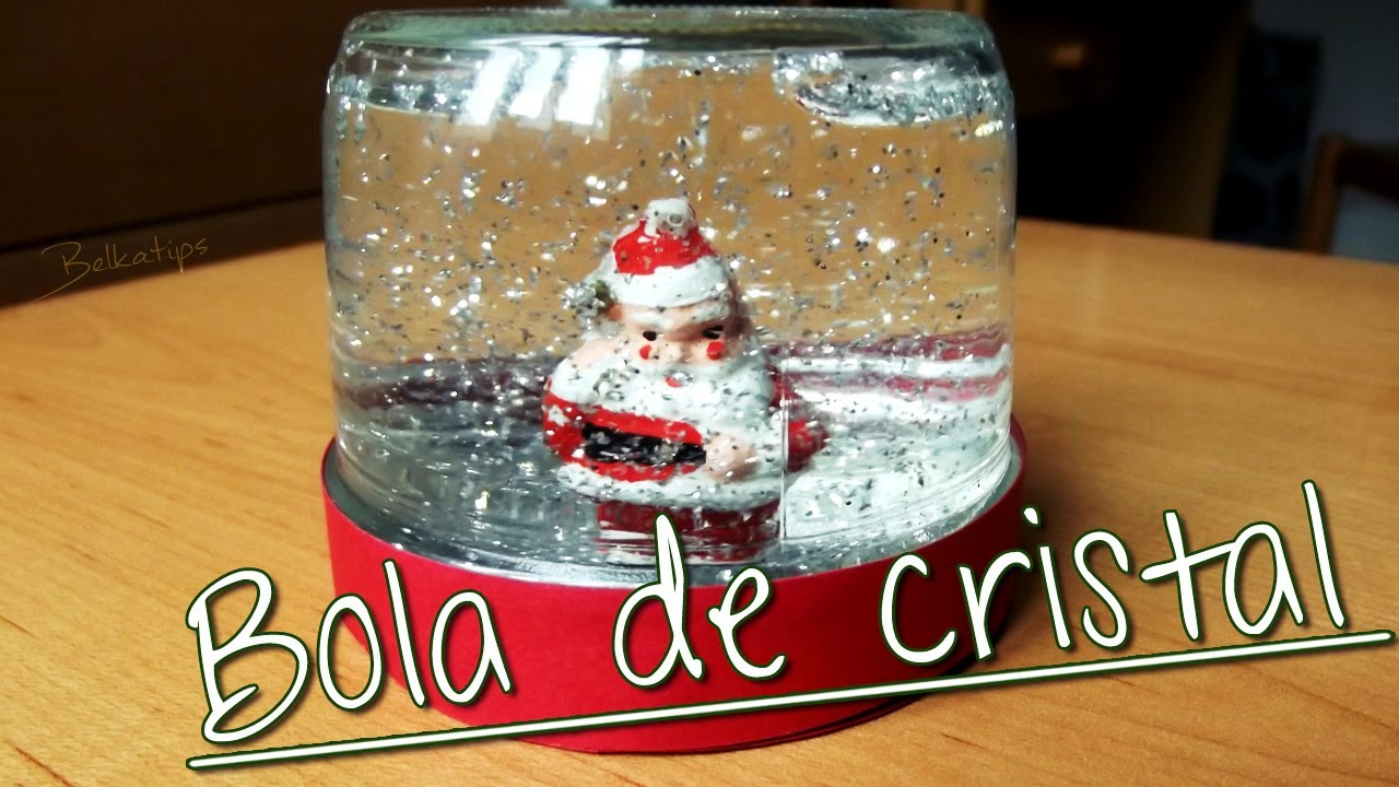 diy adorno de navidad bola de cristal youtube