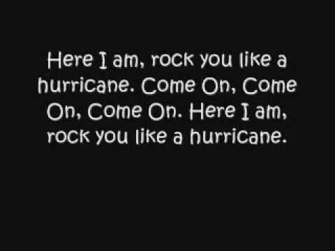 Rock you like a huricane lyrics