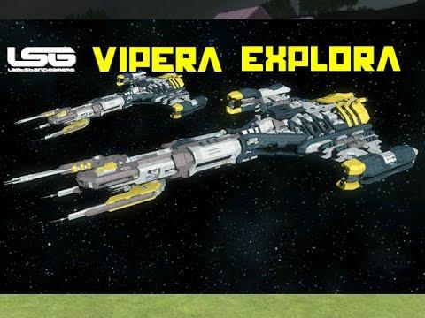 space engineers vipera exploration cruiser youtube