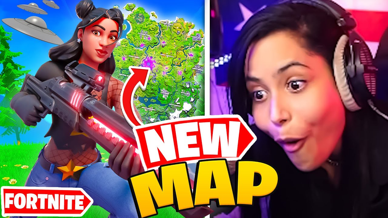 My First Look At The *NEW* Fortnite Season 7 Map - Chica