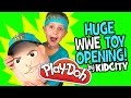 HUGE WWE Toys Opening with WWE John Cena Play-Doh Surprise Egg by KidCity