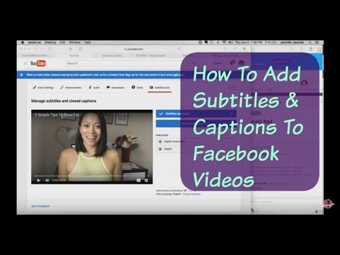 How to add subtitles captions to facebook videos youtube ccuart Gallery