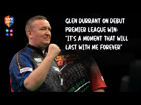 """Glen Durrant on debut Premier League win: """"It's a moment that will last with me forever"""""""