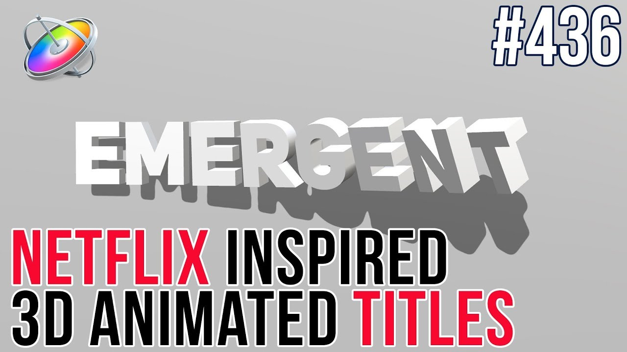 Creating a Netflix-Inspired 3D Title Animation with Motion by Mark