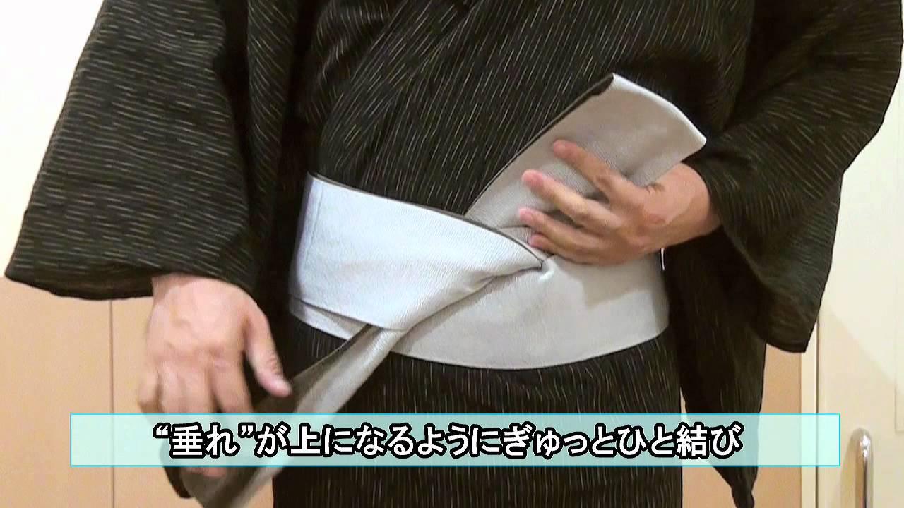【阪急百貨店】男性ゆかたの着方・帯の結び方 , YouTube