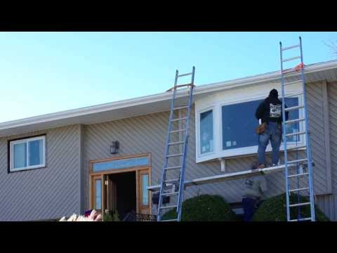 Time Lapse Bow Window Installation Renewal by Andersen of Long Island, NY